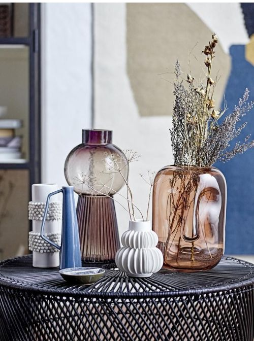 Grand vase en verre teinté...