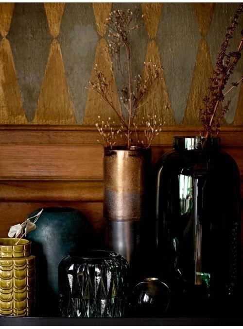 Grand vase en verre soufflé...