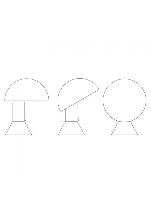 LAMPE DE TABLE ELMETTO
