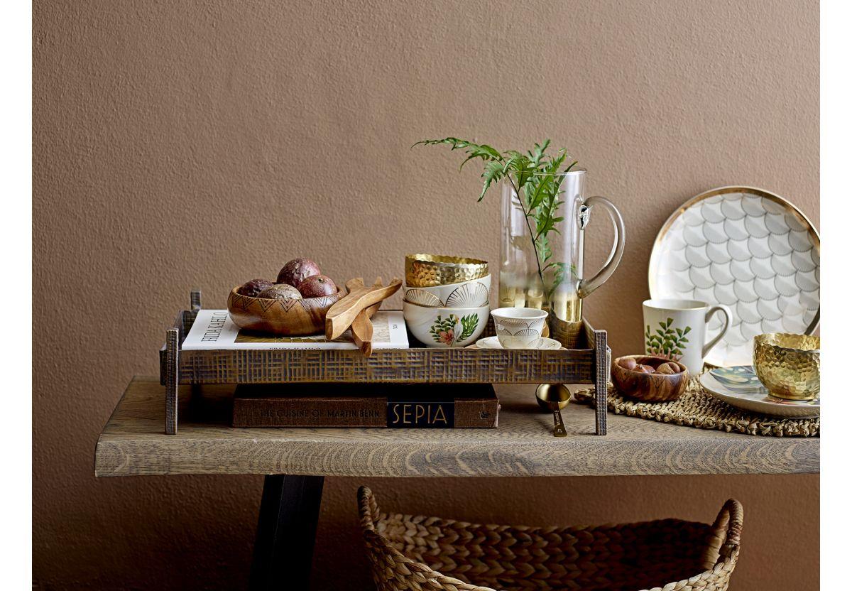 Assiettes plates Aruba - Beige, couleur dorée