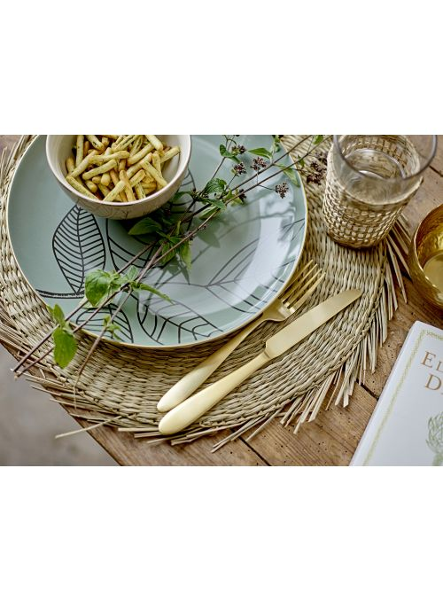 Sets de table ronds en algues Whirl - Beige