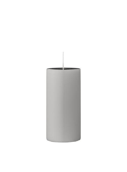 Bougie décorative 15cm - Gris clair